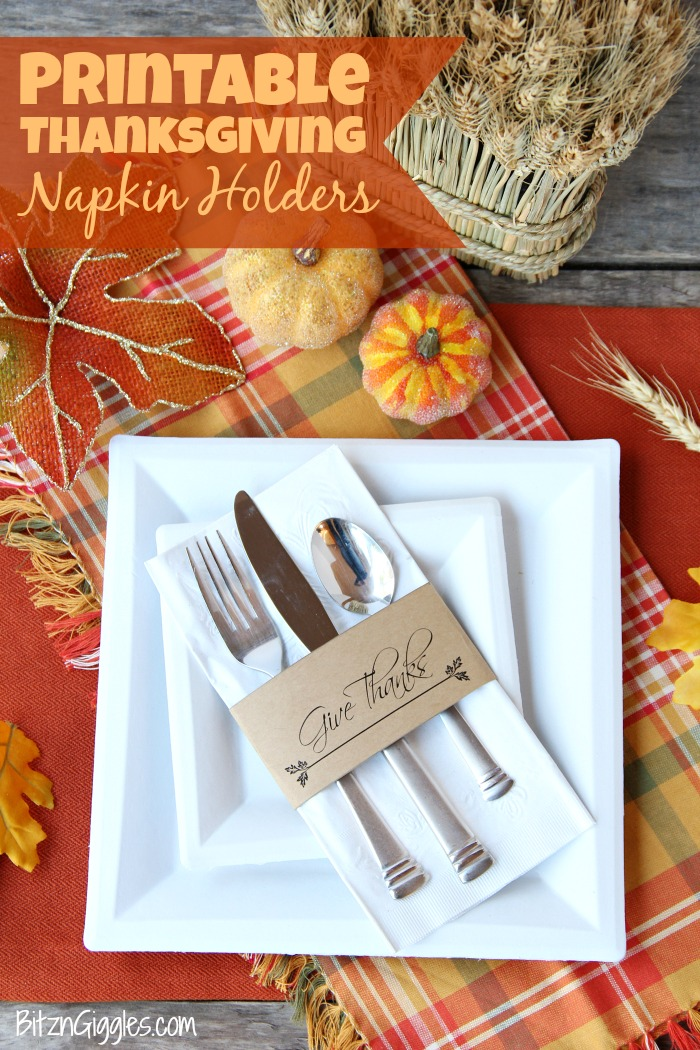 Printable Thanksgiving Napkin Holders Bitz Giggles