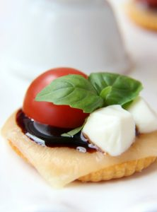 Ritz Cracker Caprese Bites