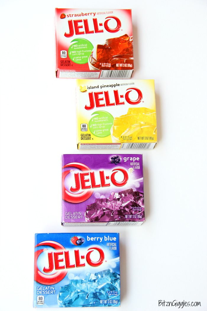 JELL-O Apples - What a fun way to snack on apples! The JELL-O gives the apples a sweetened, tangy kick. Kids love them!
