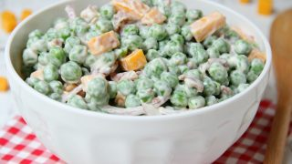 Pea Salad Recipe With Red Onions And Cheese