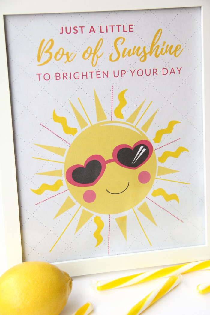 photo about Basket of Sunshine Printable known as A Minimal Box of Sun With Printable - Bitz Giggles