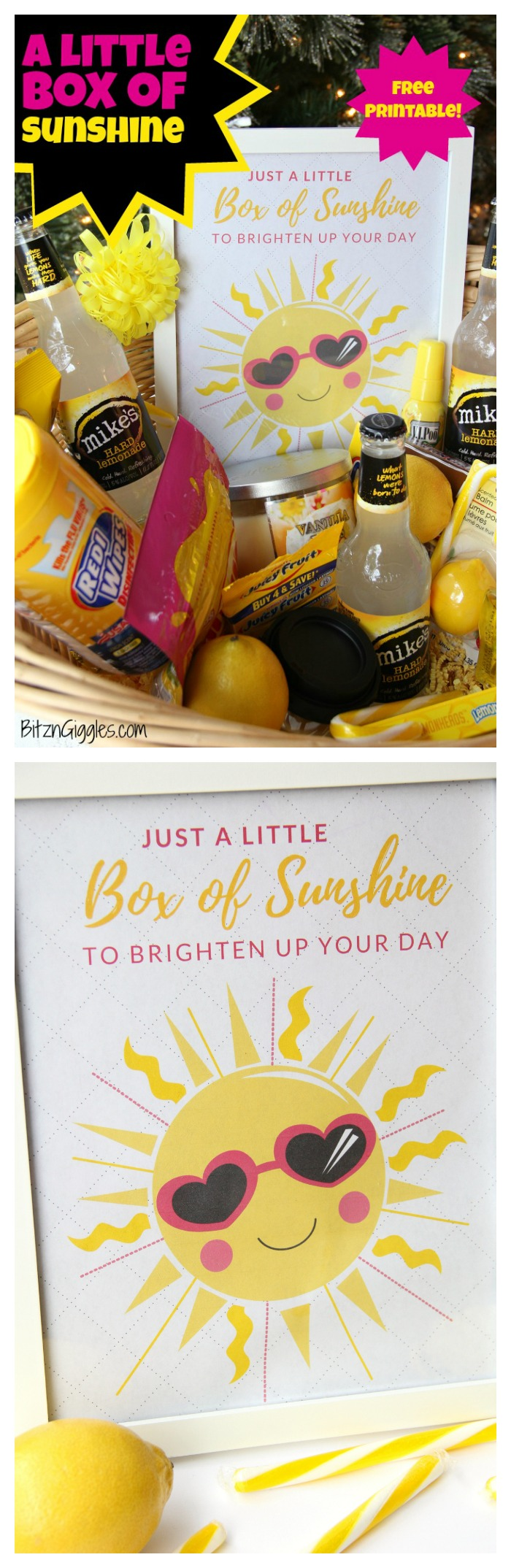 picture about Basket of Sunshine Printable referred to as A Very little Box of Sun With Printable - Bitz Giggles