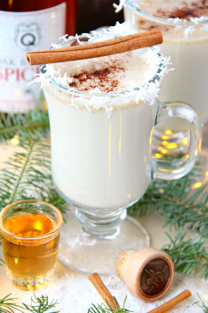 Hot Buttered Rum - This classic hot cocktail is sure to warm you up with a delicious combination of milk, rum and spices. So wonderful and creamy!