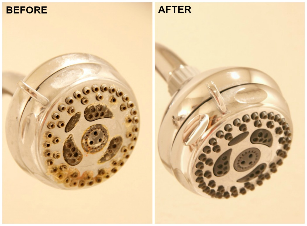 How to Clean a Shower Head - If you have a gross and grimy shower head, this simple homemade solution is sure to make it look like new again!