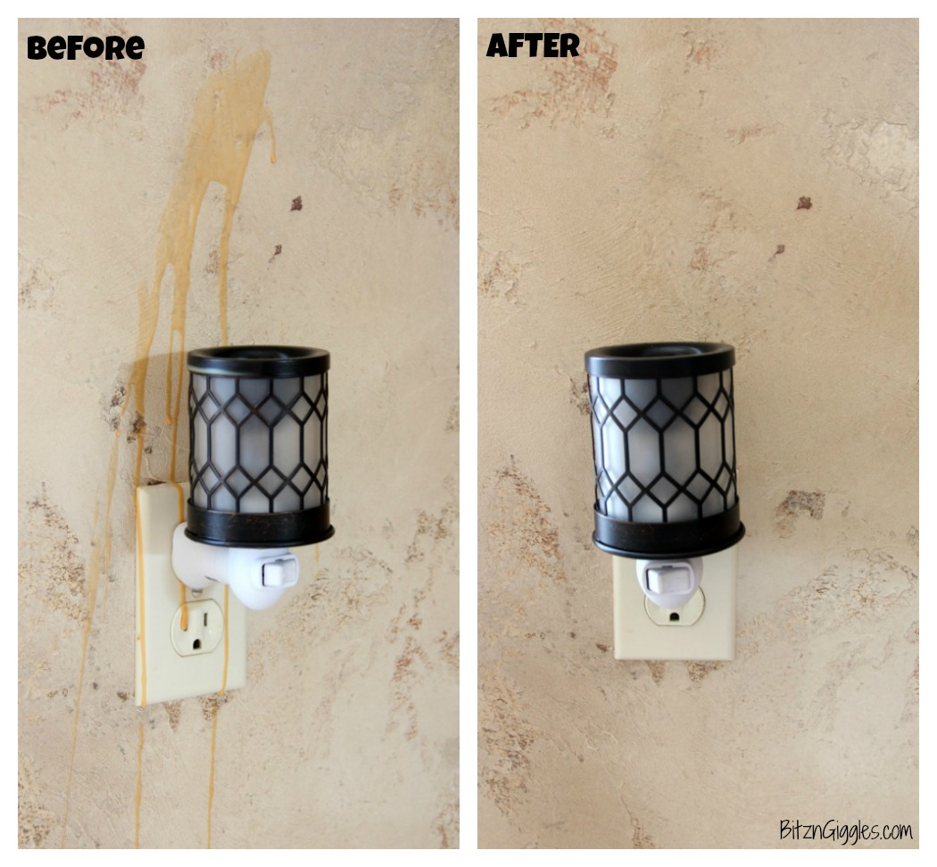 How to Remove Wax From Your Wall - How to remove cooled wax from the wall after your wax warmer accidentally gets bumped!