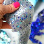 Clear Confetti Slime - Easy recipe for clear slime! Add confetti and foil stars to give it color and make it sparkle. So pretty!