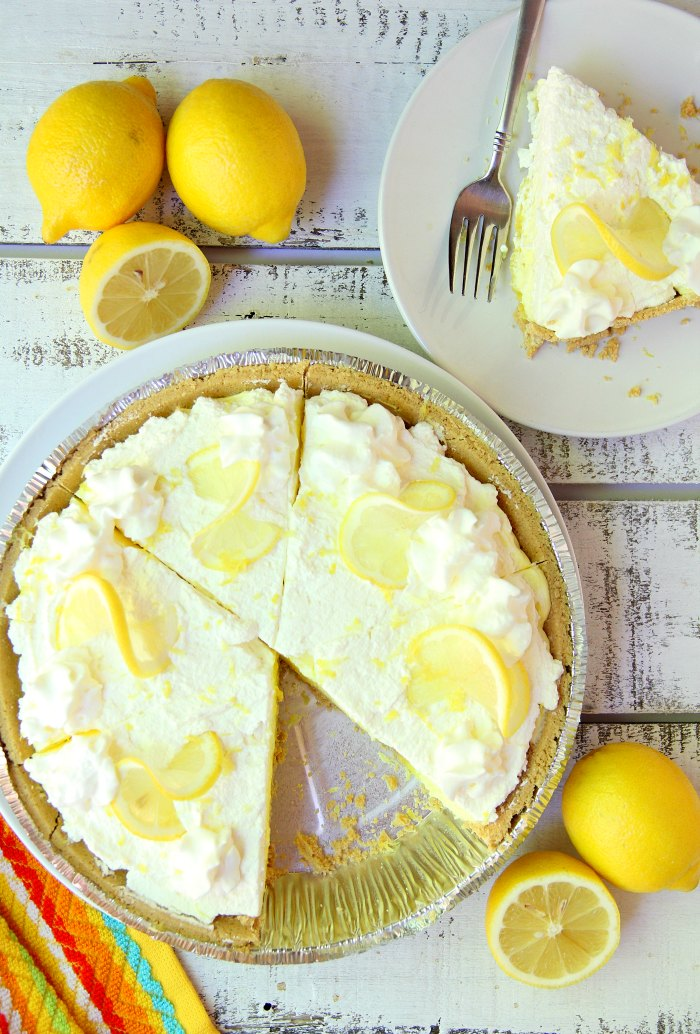 No Bake Lemon Pie - A fluffy and delicious 5-ingredient no-bake lemon pudding pie, perfect for celebrations and parties!