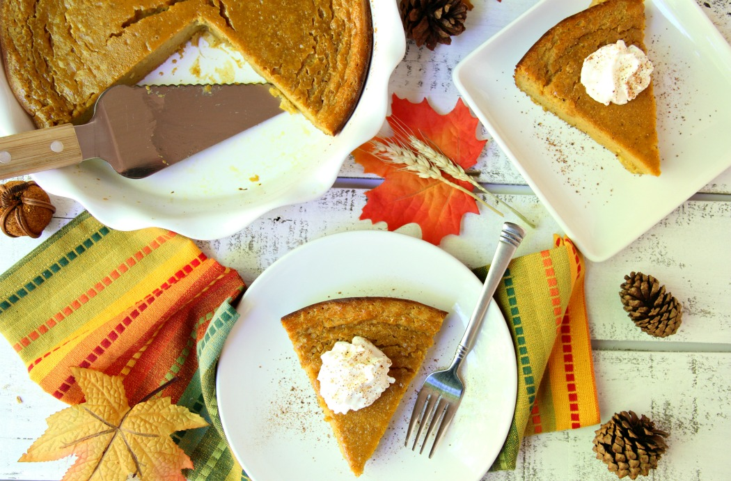 Crustless Pumpkin Pie - Tastes like classic, delicious pumpkin pie, just without the fatty pastry crust!