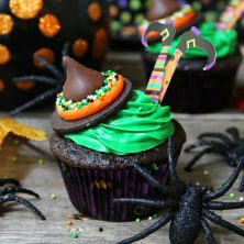 Easy Wicked Witch Cupcakes