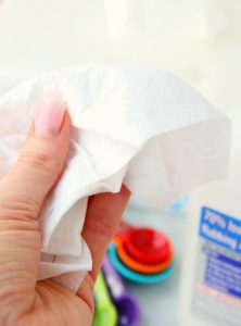 Homemade Disinfecting Wipes - If you love Clorox Disinfecting Wipes, you're going to love this DIY version! Affordable enough to keep a container in every room of your house!