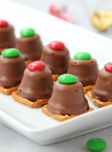 Peanut Butter Pretzel Bites - The whole family will love this simple and quick, three-ingredient sweet and salty treat. Great for gift giving as well!