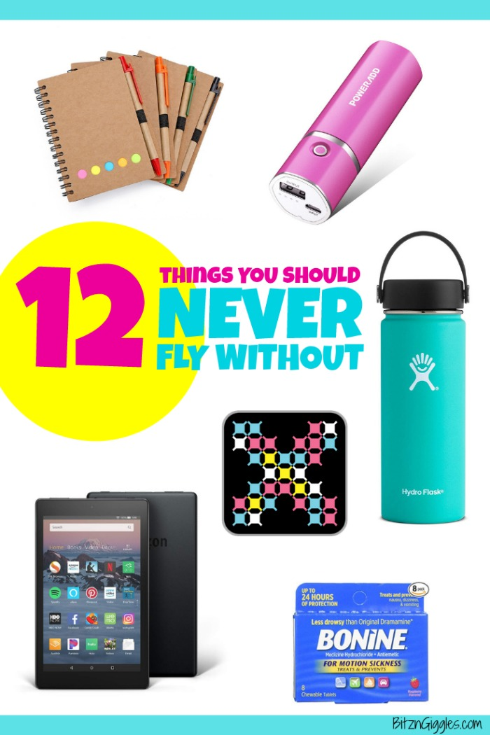 12 Things You Should Never Fly Without - Whenever I travel, I make sure to never leave these things at home. You shouldn't either!