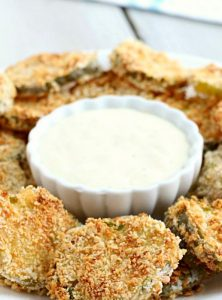 Air Fryer Fried Pickles - Crunchy dill pickle slices covered in crispy, seasoned Panko bread crumbs! So good and good for you, too!
