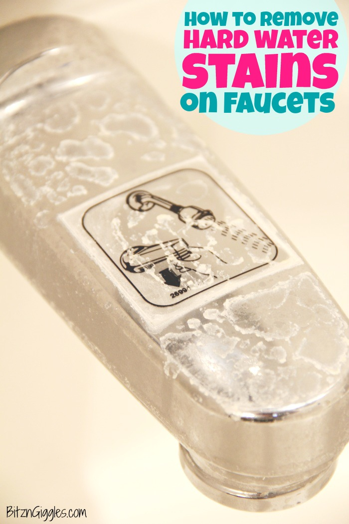 How to Remove Hard Water Stains on Faucets - When cleaning products aren't effective on removing your hard water stains, try this easy DIY solution!