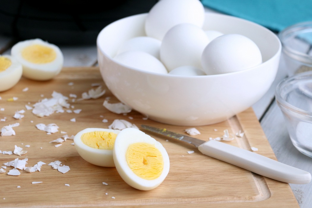Air Fryer Hard Boiled Eggs - This is literally the EASIEST way to make hard boiled eggs! No boiling, no fuss. Just perfect, easy-to-peel hard boiled eggs!