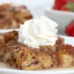French Toast Bake - An easy, hassle-free overnight French toast casserole with a crunchy cinnamon-sugar topping!