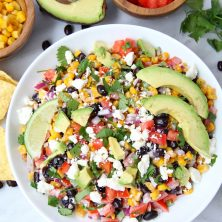 Mexican Street Corn Salsa - A delightful homemade salsa filled with fresh ingredients and bursting with flavor. A perfect appetizer or snack when entertaining family and friends!