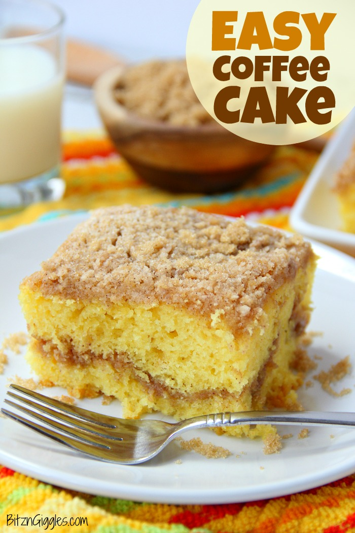 Easy coffee cake recipe with yellow mix