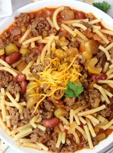 Big Batch Homemade Chili - A flavorful, yet mild chili, perfect for parties and gatherings. This chili is a family favorite and serves a crowd!