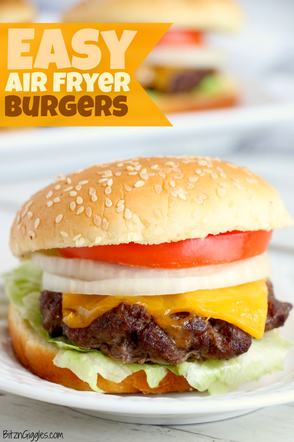 Easy Air Fryer Burgers - Juicy and flavorful burgers cooked perfectly in the air fryer!