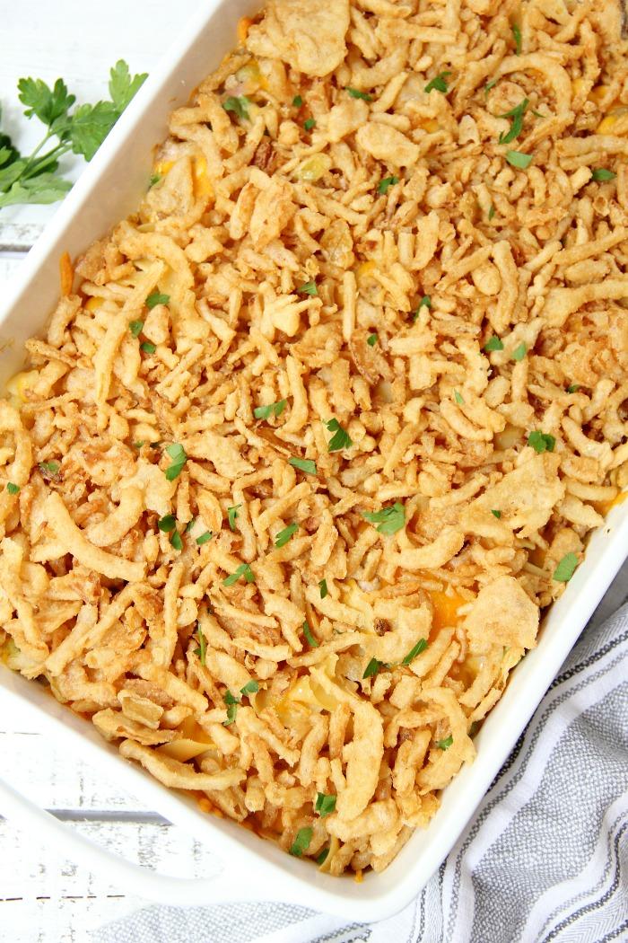 classic tuna noodle casserole recipe - bitz & giggles
