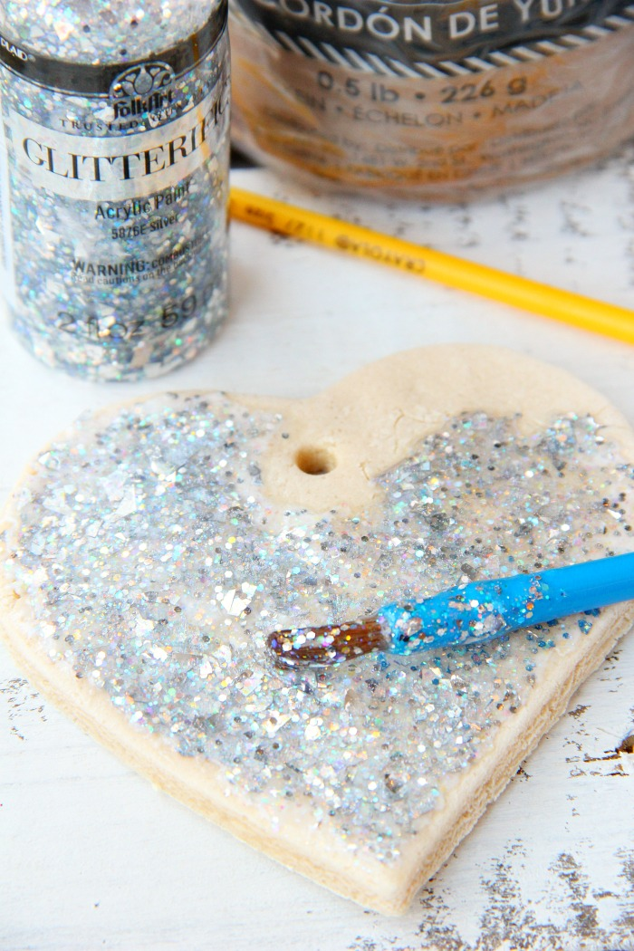 Painting a salt dough ornament