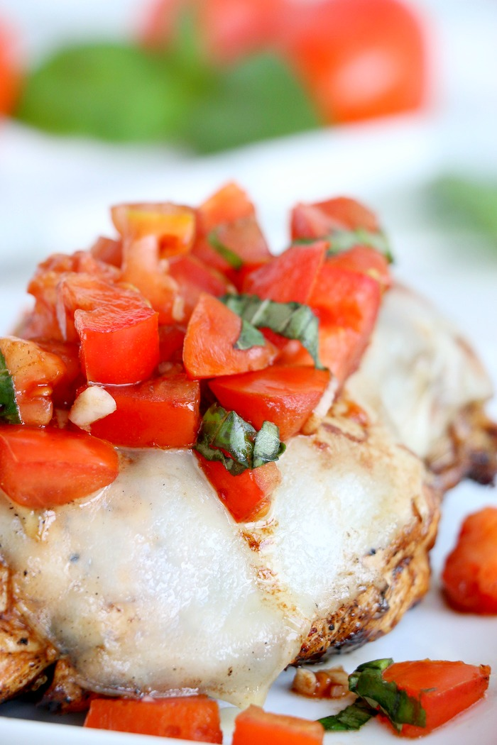 chicken breast with bruschetta topping