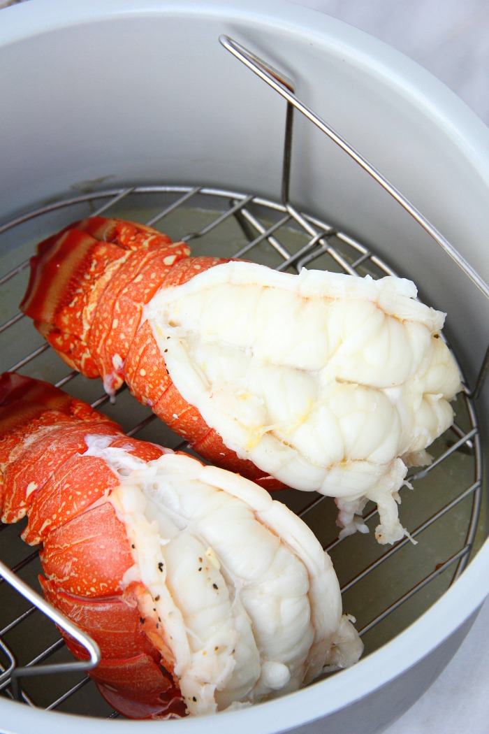 pressure cooked lobster tails in Ninja Foodi