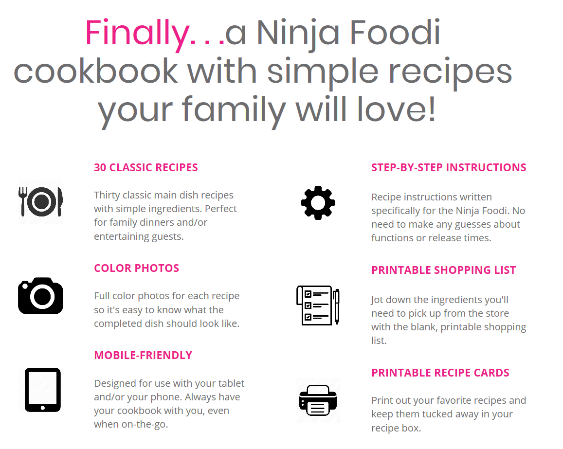 Ninja Foodi cookbook benefits