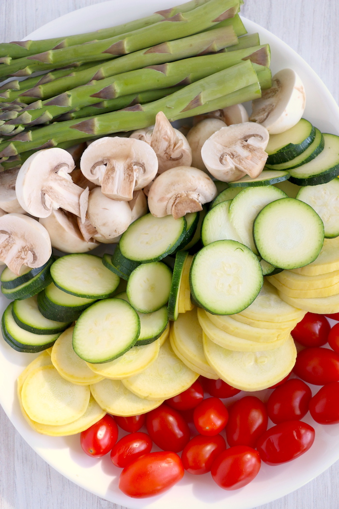 plate of colorful vegetables