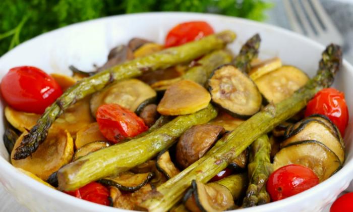 Air Fryer Balsamic Roasted Vegetables