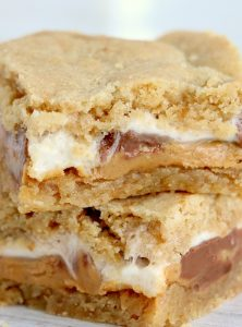 stack of s'mores dessert bars