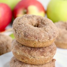stack of apple donuts