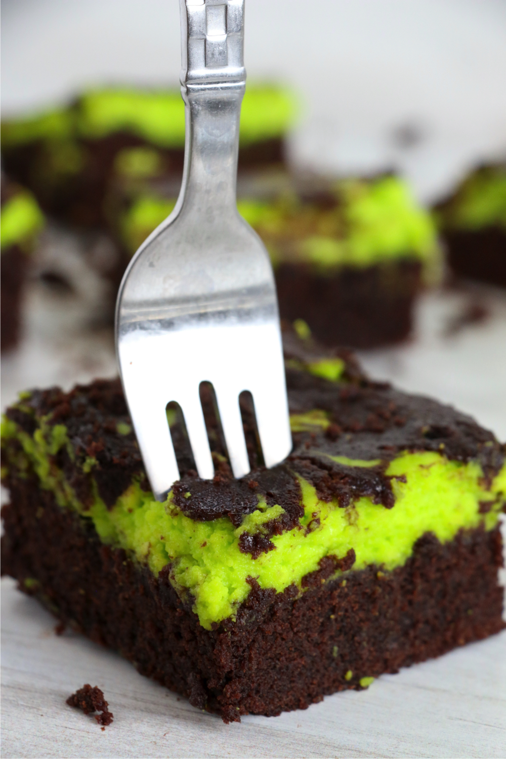 fork going into a Halloween brownie