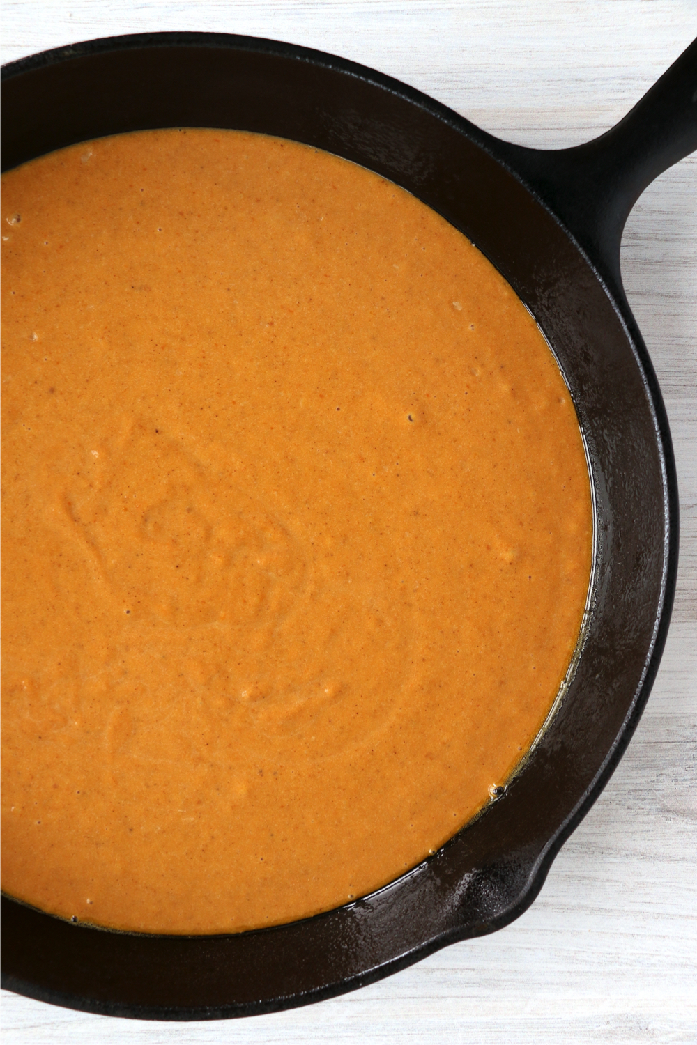 skillet filled with pumpkin mixture