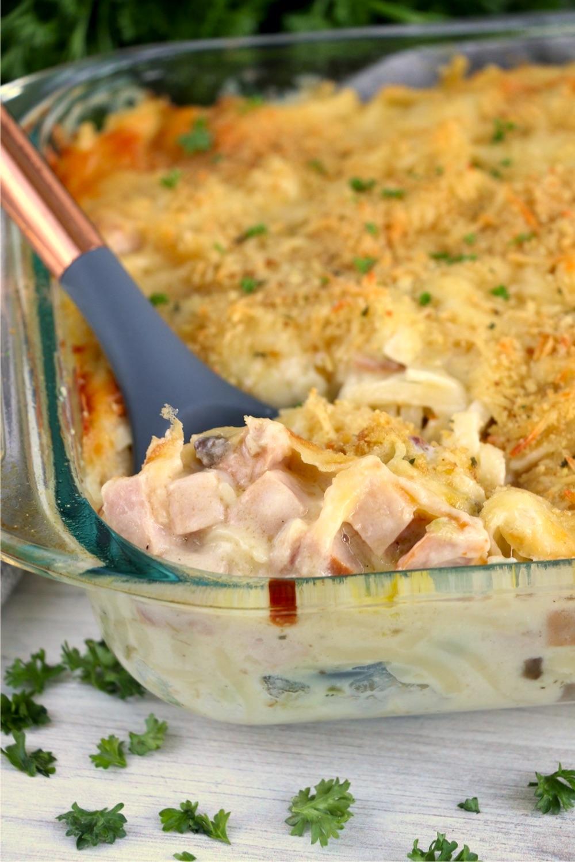 spoonful of turkey tetrazzini