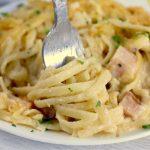fork twirling linguine noodles