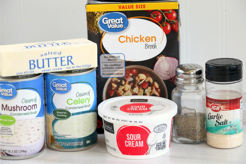 Ingredients for turkey tetrazzini