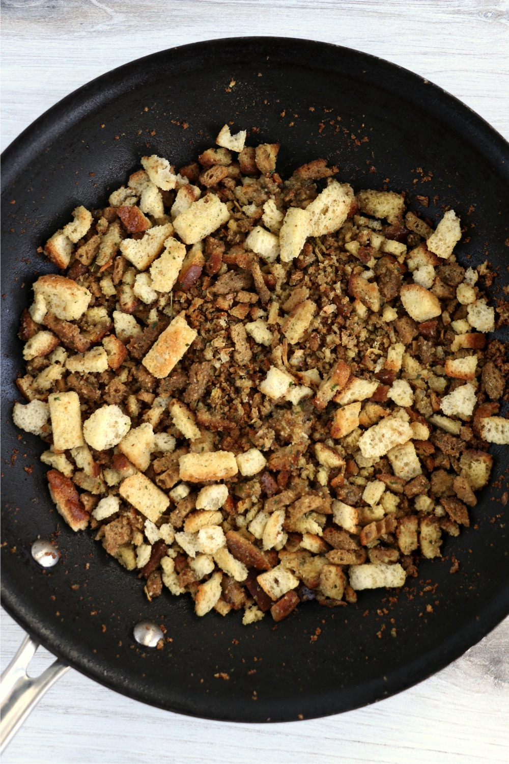 toasting stuffing mix and croutons