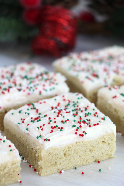 Cut Christmas Sugar Cookie Cake Bars