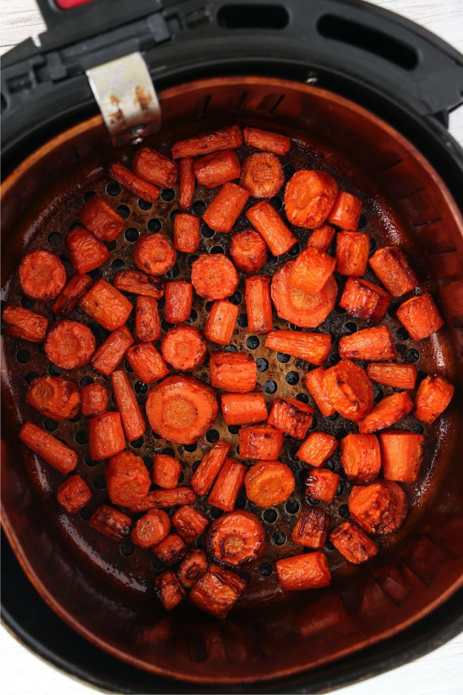 roasted carrots in air fryer basket