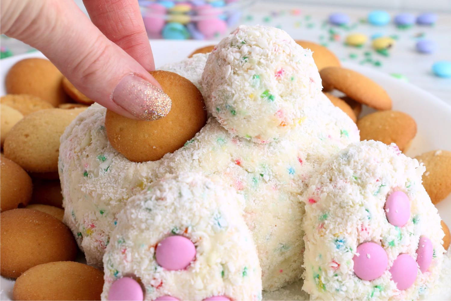 Bunny Butt Funfetti Easter Cheese Ball