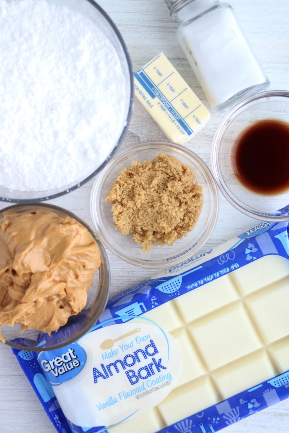 ingredients for homemade peanut butter eggs