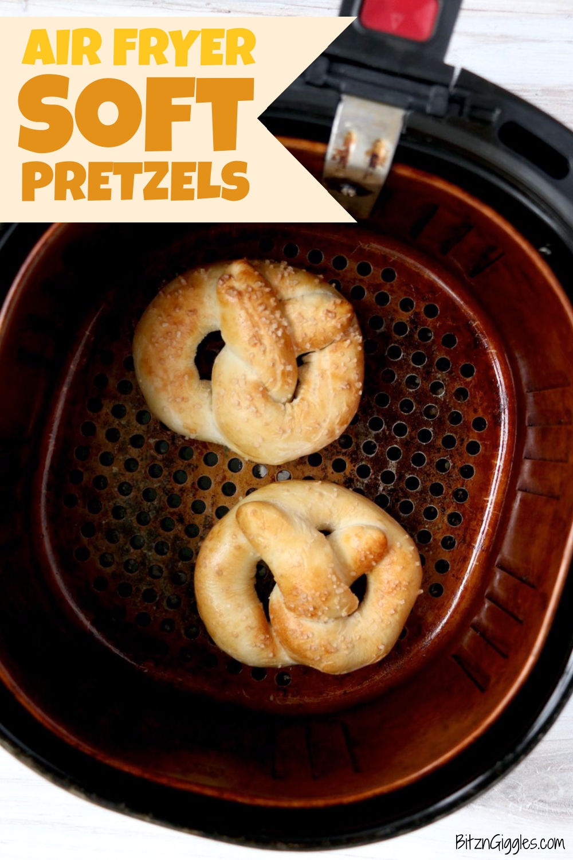 making soft pretzels in an air fryer
