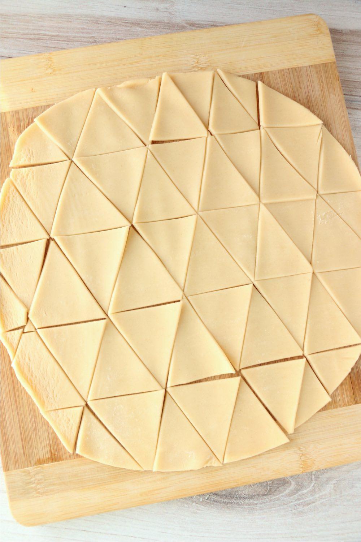 pie crust cut into triangles