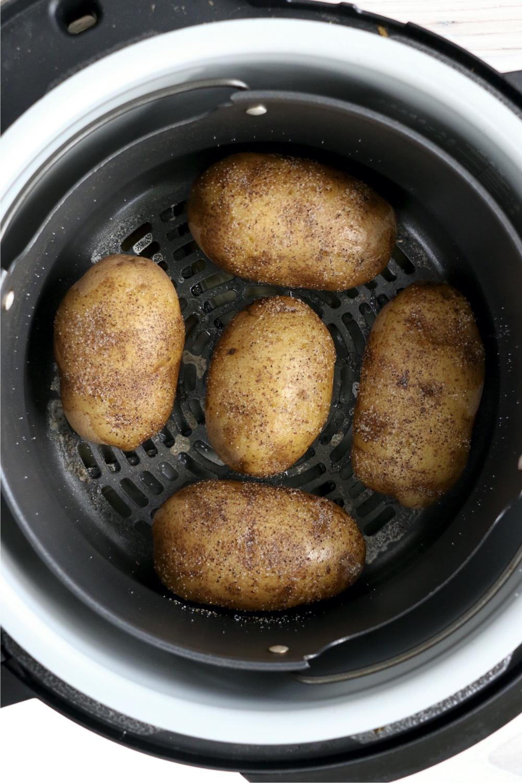 baked potatoes in the Ninja Foodi cooking pot