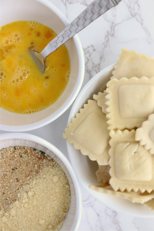 ingredients for ravioli in the air fryer