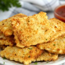 stack of toasted ravioli on a plate