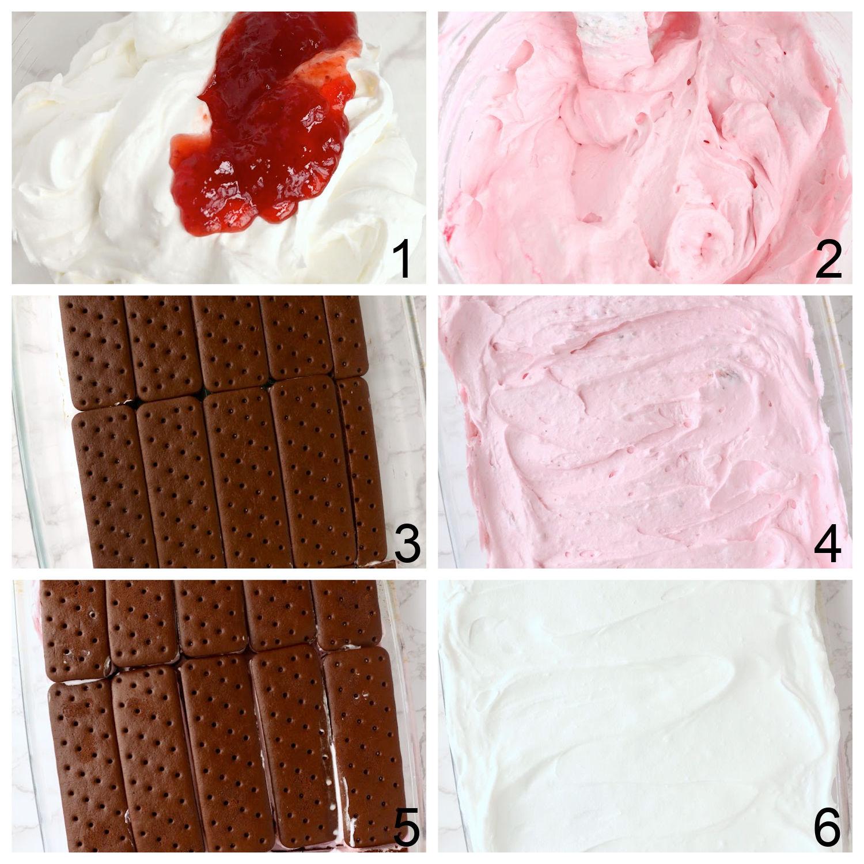 strawberry ice cream cake steps