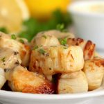 scallops topped with parsley